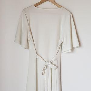 ASOS Dresses - Asos   White Button Down Flowy Sleeve Midi Dress